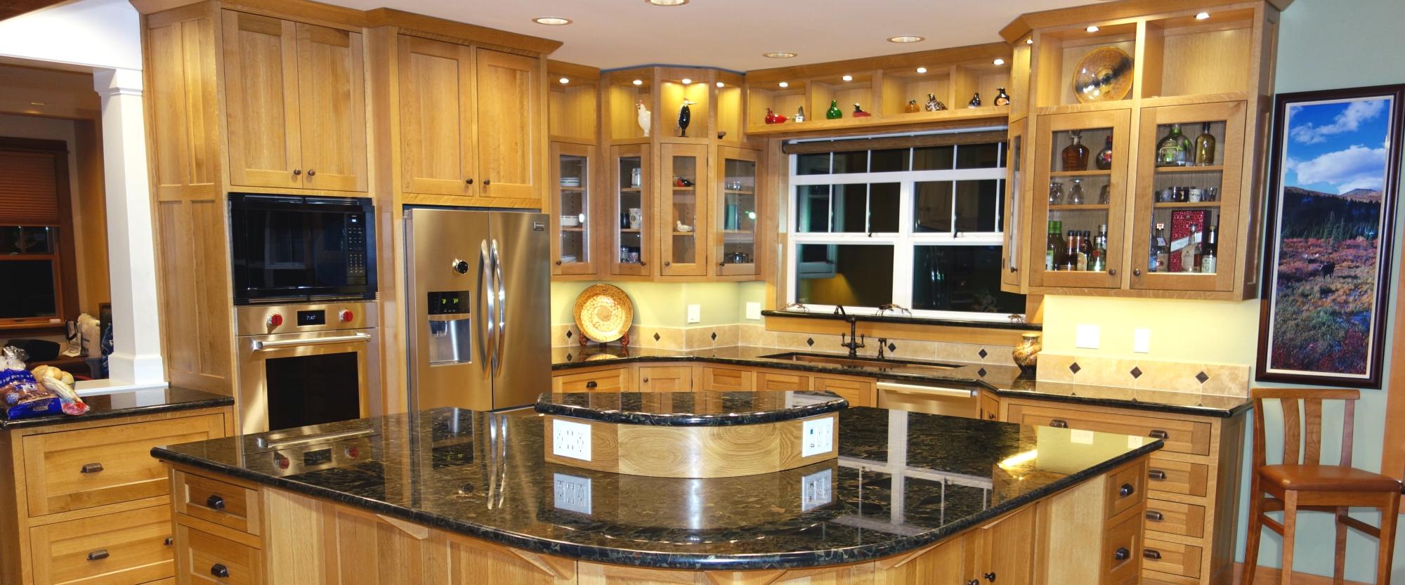 Quarter sawn white oak cabinets_slider - Fairfield Custom ...
