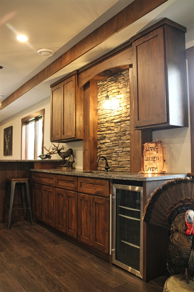 Rustic alder cabinets - Meadville PA - Fairfield Custom Kitchens