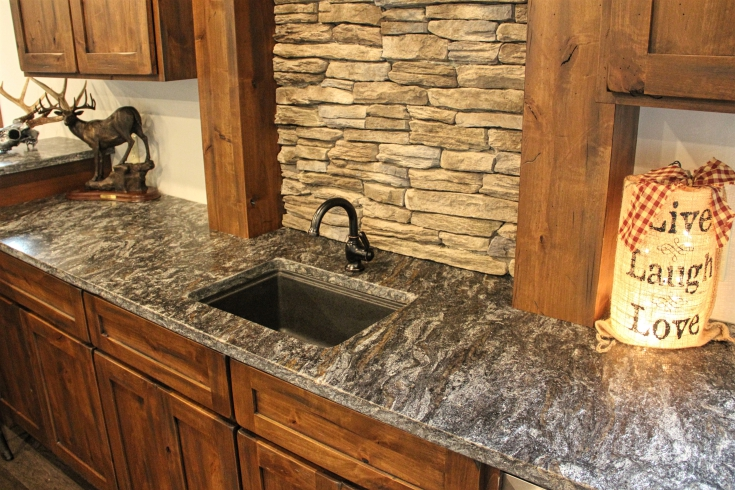 Rustic alder cabinets - Meadville PA - Fairfield Custom ...
