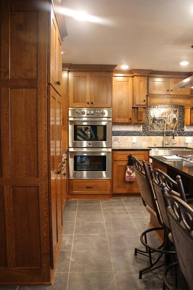 Custom Quarter Sawn Oak Kitchen Cabinets