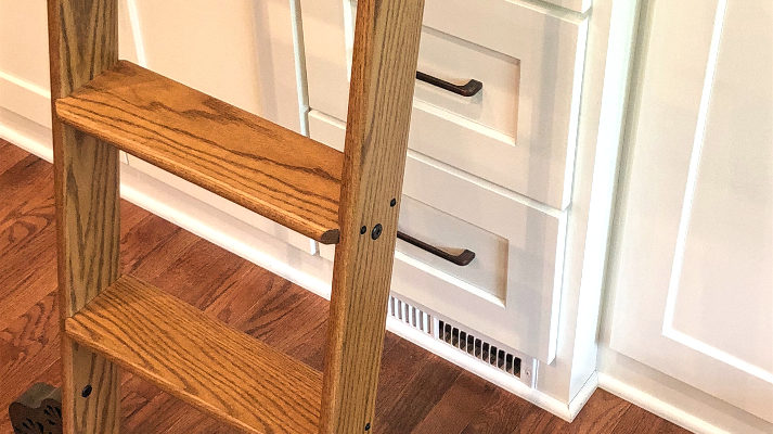 custom-bookcase-cabinets-rolling-ladder