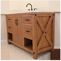 custom vanity cabinet rustic