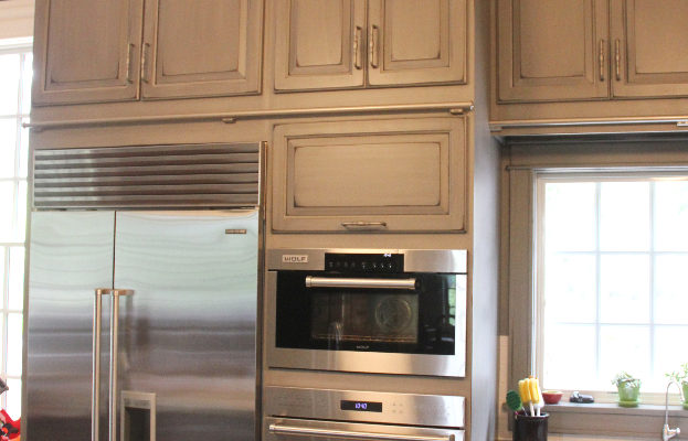 gray-painted-distressed-custom-kitchen-cabinets