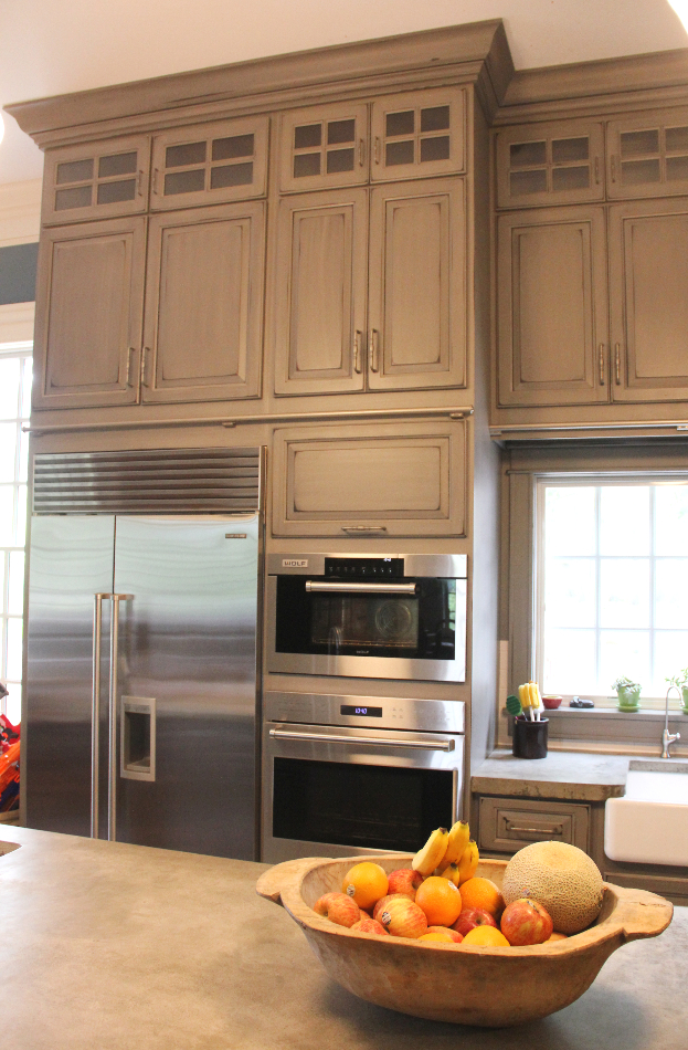 Gray Painted and Distressed Kitchen - Meadville, PA ...
