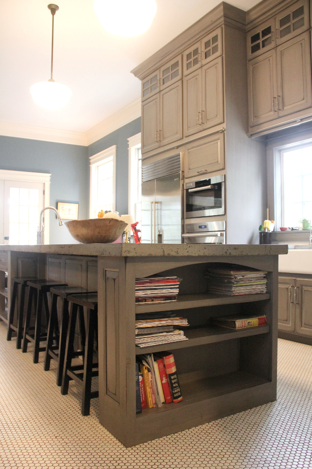 gray-painted-distressed-custom-kitchen-cabinets-TMH05 ...