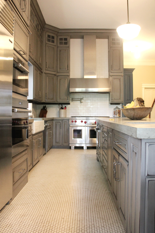 Gray Painted And Distressed Kitchen Meadville Pa Fairfield Custom Kitchens