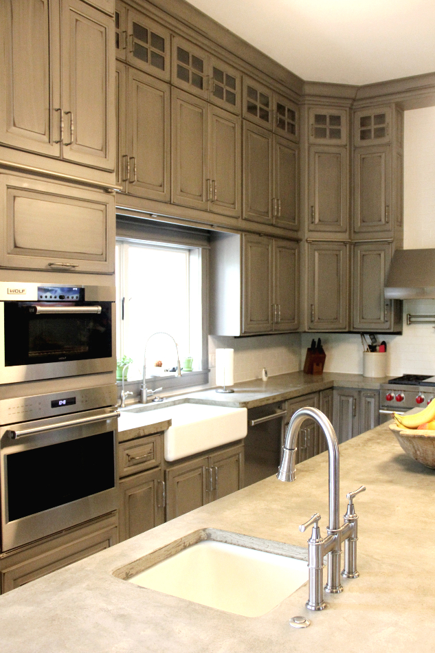 gray-painted-distressed-custom-kitchen-cabinets-TMH11 ...