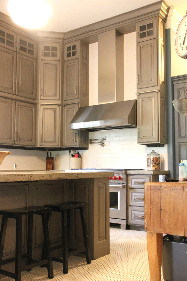 gray-painted-distressed-custom-kitchen-cabinets-TMH14 ...