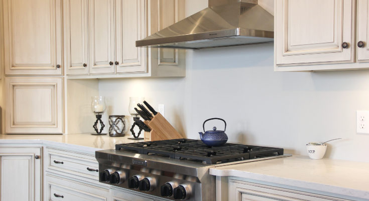 painted-glazed-dark-stained-kitchen-cabinets