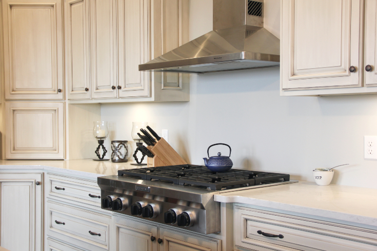painted-glazed-dark-stained-kitchen-cabinets-CNL04 ...