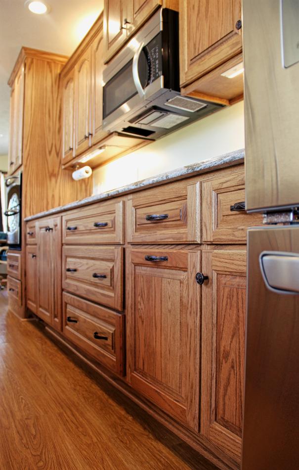 Custom Red Oak Kitchen With Cambria Quartz - Conneaut Lake ...